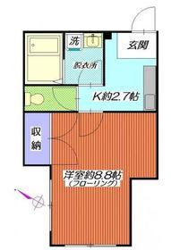 岡村マンション3階Fの間取り画像