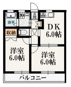 SUNS昭島3階Fの間取り画像