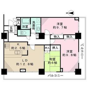 アイタウン・レピア8階Fの間取り画像