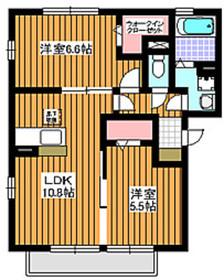 エスポワール12階Fの間取り画像