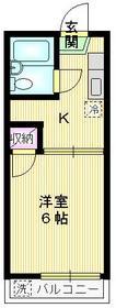 西立川駅 徒歩18分1階Fの間取り画像