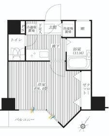 プレール・ドゥーク水天宮Ⅱ3階Fの間取り画像