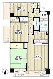 武蔵小山駅 徒歩9分3階Fの間取り画像