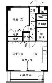 ホワイトガーデン東田9階Fの間取り画像