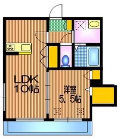 メゾン ド レスポワール2階Fの間取り画像