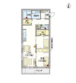 (シニア限定)戸田公園ヘーベルヴィレッジ・エール2階Fの間取り画像