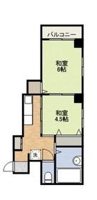 第2クリスタルビル2階Fの間取り画像
