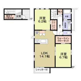 昭島駅 徒歩23分2階Fの間取り画像