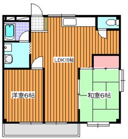 地下鉄赤塚駅 徒歩11分2階Fの間取り画像