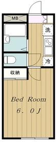 京王稲田堤駅 徒歩6分1階Fの間取り画像