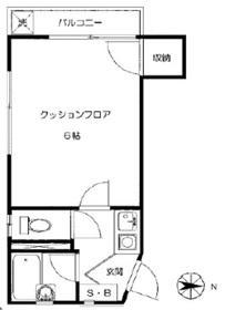 幡ヶ谷駅 徒歩9分2階Fの間取り画像