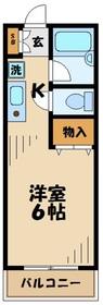 ジュネスAOKI ジュネスアオキ2階Fの間取り画像