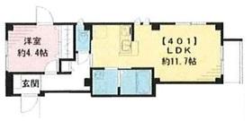グルナディエ4階Fの間取り画像