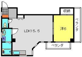麻衣フラッツ3階Fの間取り画像