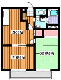 成増駅 徒歩15分2階Fの間取り画像