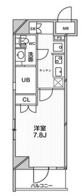 エルスタンザ文京千駄木13階Fの間取り画像