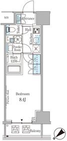 ルビア赤坂8階Fの間取り画像