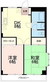 アメニティ213階Fの間取り画像