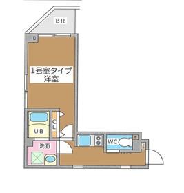 リベルタ銀座イースト7階Fの間取り画像