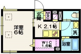 maison la mer1階Fの間取り画像