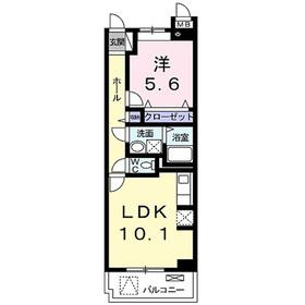 プラシード・レジデンス鎌倉3階Fの間取り画像