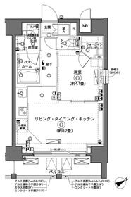 横浜駅 徒歩10分8階Fの間取り画像