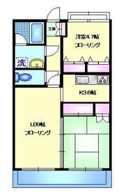 マンションサン1階Fの間取り画像