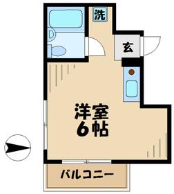 ユーカリハイツ八王子2階Fの間取り画像