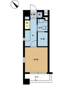 ミディアススカイコート赤坂8階Fの間取り画像