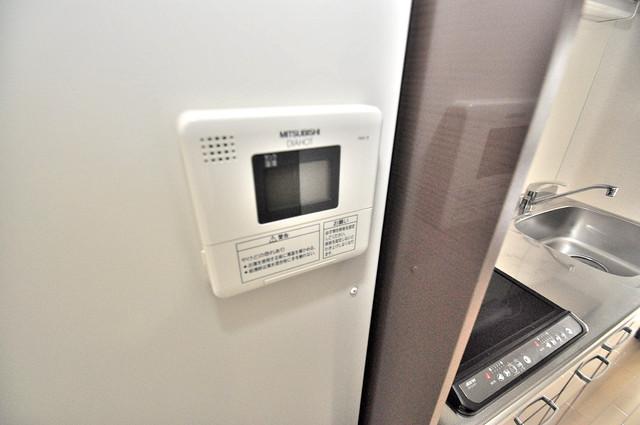 オランジュ上小阪 給湯リモコン付。温度調整は指1本、いつでもお好みの温度です。