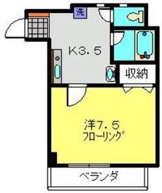 グランディール・横濱3階Fの間取り画像