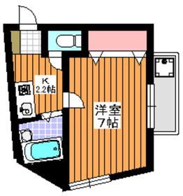 ハイツコマ2階Fの間取り画像
