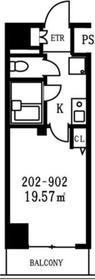 スカイコート銀座東5階Fの間取り画像