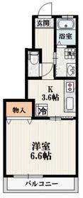 メゾンカルム1階Fの間取り画像