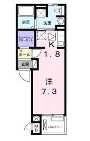メゾンステラ1階Fの間取り画像