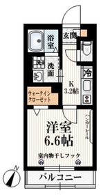 ブライト・ヒル河田2階Fの間取り画像