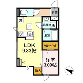 Maison de Vega1階Fの間取り画像