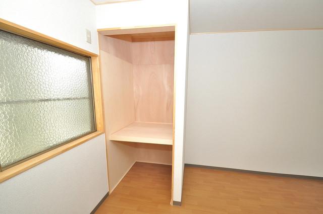 寺前町1-1-27 貸家 もちろん収納スペースも確保。おかげでお部屋の中がスッキリ。