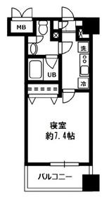 レジディア四谷三丁目8階Fの間取り画像