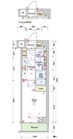 スカイコートグレース新宿中落合1階Fの間取り画像
