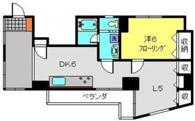萩霞ビル4階Fの間取り画像