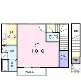 ブラングリシーヌ2階Fの間取り画像