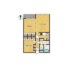 スタジオーネオミノ2階Fの間取り画像