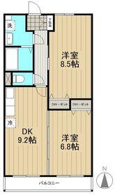 ジラソーレ2階Fの間取り画像