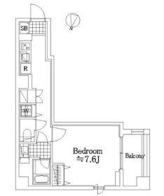 ザ・レジデンス・オブ・トーキョーSO032階Fの間取り画像