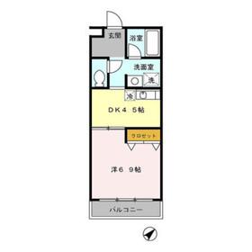 本厚木駅 バス10分「林」徒歩3分3階Fの間取り画像