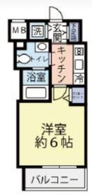 グランヴァン横濱反町6階Fの間取り画像