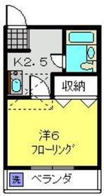 ハイツK62階Fの間取り画像