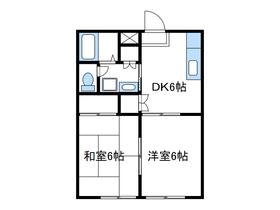 内山ハイツ1階Fの間取り画像