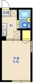 シティハイム ウィン2階Fの間取り画像